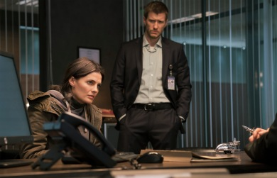 ABSENTIA - SEASON 1 - Episode 101. Pictured: Stana Katic as Emily Byrne, Patrick Heusinger as Nick Durand