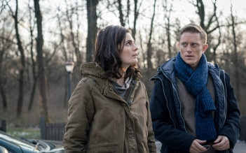 ABSENTIA - SEASON 1 - Episode 101. Pictured: Neil Jackson as Jack Byrne, Stana Katic as Emily Byrne