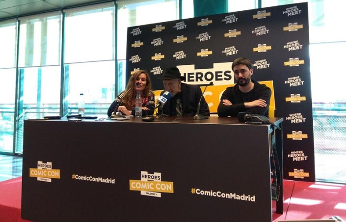 FRANK MILLER PRESS CONFERENCE MADRID HEROES COMIC CON CONCDECULTURA 1