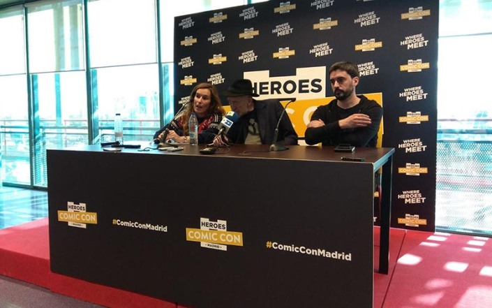 FRANK MILLER PRESS CONFERENCE MADRID HEROES COMIC CON CONCDECULTURA 2