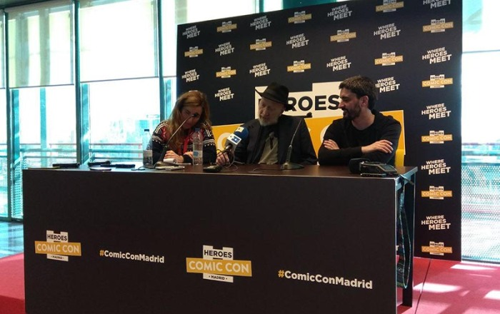 FRANK MILLER PRESS CONFERENCE MADRID HEROES COMIC CON CONCDECULTURA 3