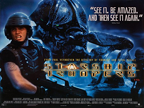 El rodaje de Starship Troopers